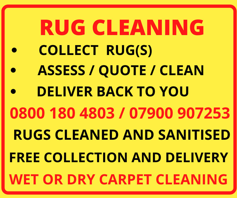 Rug Cleaning - FREE Collection and Delivery